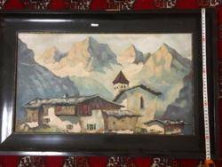 Alpesi táj.XX.szd eleje festmény