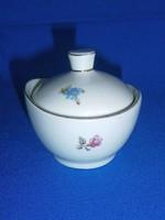 Nagyon régi Hollóházi porcelán kicsi cukortartó virág mintával