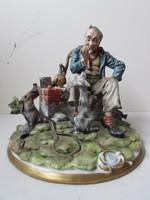 Capodimonte porcelan szobor