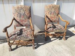 Reneszánsz stil fotel -2 db.