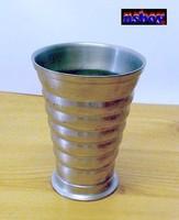 Bordás-gyűrűs oldalú ón pohár borozgatáshoz