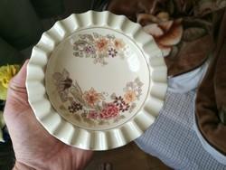 Zsolnay porcelán virág mintás nagy hamutál
