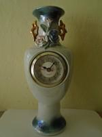 Különleges váza óra, /kandalló óra Porcelánból  közel 30 cm- es