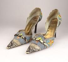 0V813 Ripa magassarkú farmer női cipő 38-as