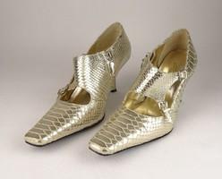 0V820 Arany színű Cango Rinaldi női bőr cipő 38-as