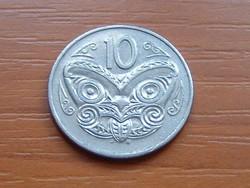 ÚJ-ZÉLAND NEW ZEALAND 10 CENT 1987 MAORI MASZK #