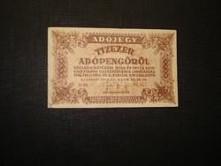 10000 adópengő 1946 sorszámos, vízjeles!