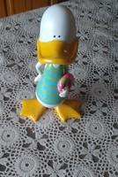 Kerámia kacsa, vidám tavaszi, húsvéti dekoráció