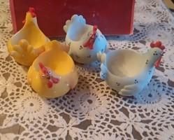Pobra tyúkocska, tojástartó, húsvéti dekoráció