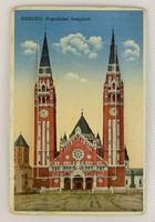 0V521 Régi szegedi színes leporellós képeslap