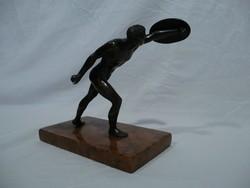 3487 Antik bronz római gladiátor szobor