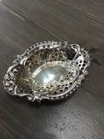 Régi ezüst kis kínáló áttört díszítéssel