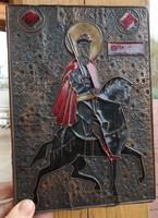 Öreg zománc -vörösréz ikon