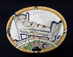 Borszéky Frigyes Concordia biztosító társaság kerámia tábla - kisebb mázhibákkal