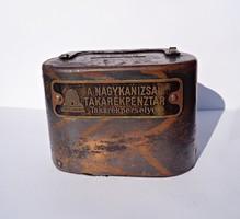 19. századi Nagykanizsai takarékpénztár perselye