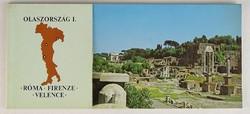 0V405 12 darabos olaszországi képeslap füzet