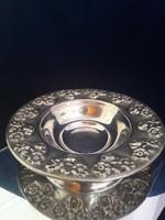 Fantasztikus ezüst virágmintás kínáló 135g