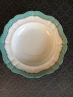 Altwien bieder tányér, 1861. (magyar nemzeti színekkel)