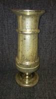 Hatalmas antik foncsorozott hutaüveg váza 44 cm
