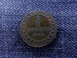 I. Ferenc 1/2 krajcár 1812 S/id 1604/