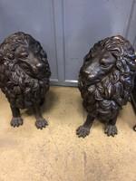 Különleges bronz oroszlán pár