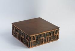 Retro iparművész fém doboz - nagyobb méret, kártya vagy cigarettatartó