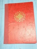 II. világháborús Német arbeitsfront munkakönyv