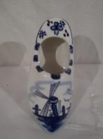 Porcelán - JELZETT - Holland - papucs - kézifestés 8 x 4,5 x 3 cm - hibátlan