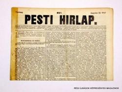 1847 augusztus 22  /  Pesti Hirlap 1. Kiadás  /  Régi ÚJSÁGOK KÉPREGÉNYEK MAGAZINOK Szs.:  8689