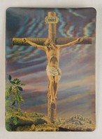 0V453 3 dimenziós Jézus a kereszten képeslap
