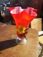 Csodálatos üveg váza, fújt, hagyatékból