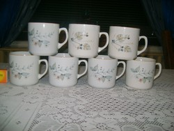 Régi Zsolnay bögre, csésze - hét darab