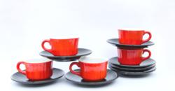 Gránit Kispest retro mokkáskészlet - kávéscsészék