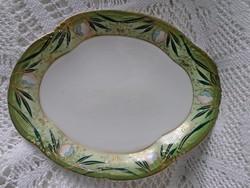 Antik, Art Nouveau jelzett PSL porcelán, 23,5 x 19 cm