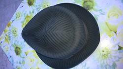 Ritkaság ! Valódi Parana nyúlszőr férfi kalap grafitszürke hibátlan újszerű áll