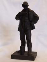 OLVASZTÁR, öntöttvas szobor (181118)