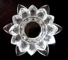 Kristály üveg mécsestartó vizililiom alakú
