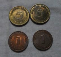 Német pénz - érme, Pfennig (NSZK, 1983, 1986)