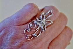 Szép nagy kézműves design ezüst gyűrű