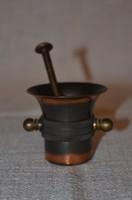 Iparművészeti mini mozsár törővel  ( DBZ 0053 )