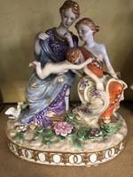 Porcelán alakos jelenet