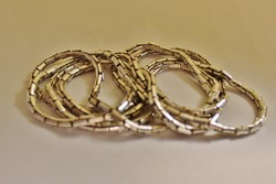 Különleges régi hosszú ezüst nyaklánc 95cm