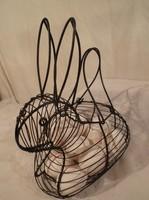 Fém - kosár - NAGY - tojástartó -  20 db tojás fér bele 30 x 26 x 18 cm NEM CSAK HÚSVÉTRA!