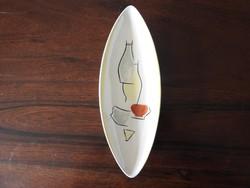 Art Deco kenu alakú kínáló - asztalközép - jelzett.