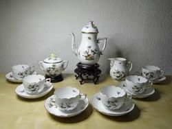 Rothschild mintás herendi porcelán hatszemélyes kávés készlet hibátlan állapotban