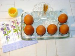 Hatszemélyes tojáskínáló készlet
