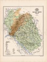 Pozsony megye térkép 1885 (3), vármegye, atlasz, Kogutowicz Manó, 43 x 57 cm, Gönczy Pál, nagy