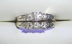 18KT Fehér Arany 1.53KT Gyémánt Menyasszonyi Készlet IGI Minősítéssel