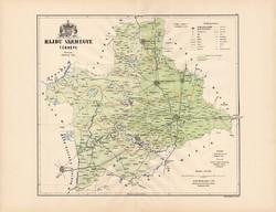 Hajdú megye térkép 1889 (3), vármegye, atlasz, Kogutowicz Manó, 43 x 56 cm, Gönczy Pál, eredeti