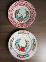 Hollóházi porcelán falitányér pár